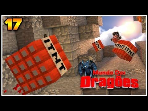 EXPLOSÃO pro CENTRO da TERRA! - Minecraft Mundo dos Dragões #17
