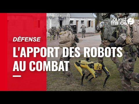Quand robots et élèves officiers s'entraînent ensemble sur le camp militaire de Coëtquidan