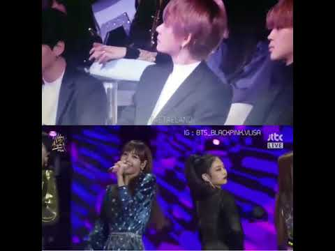 Bts V Jamming To Blackpink Lisa Rap Part In As If Its Your Last Gda
