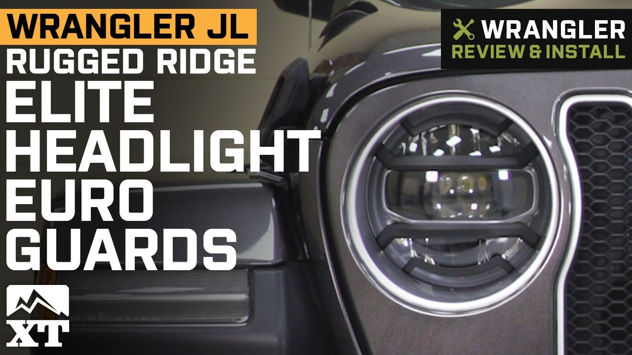 Rugged Ridge 11230.21 Black Headlight Guard 2 Pack