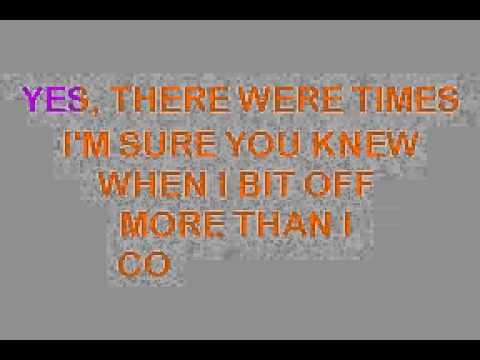 Karaoke song by Frank Sinatra   I did it my way