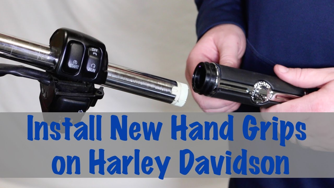 small resolution of install new hand grips on harley davidson motorcycle biker podcast youtube