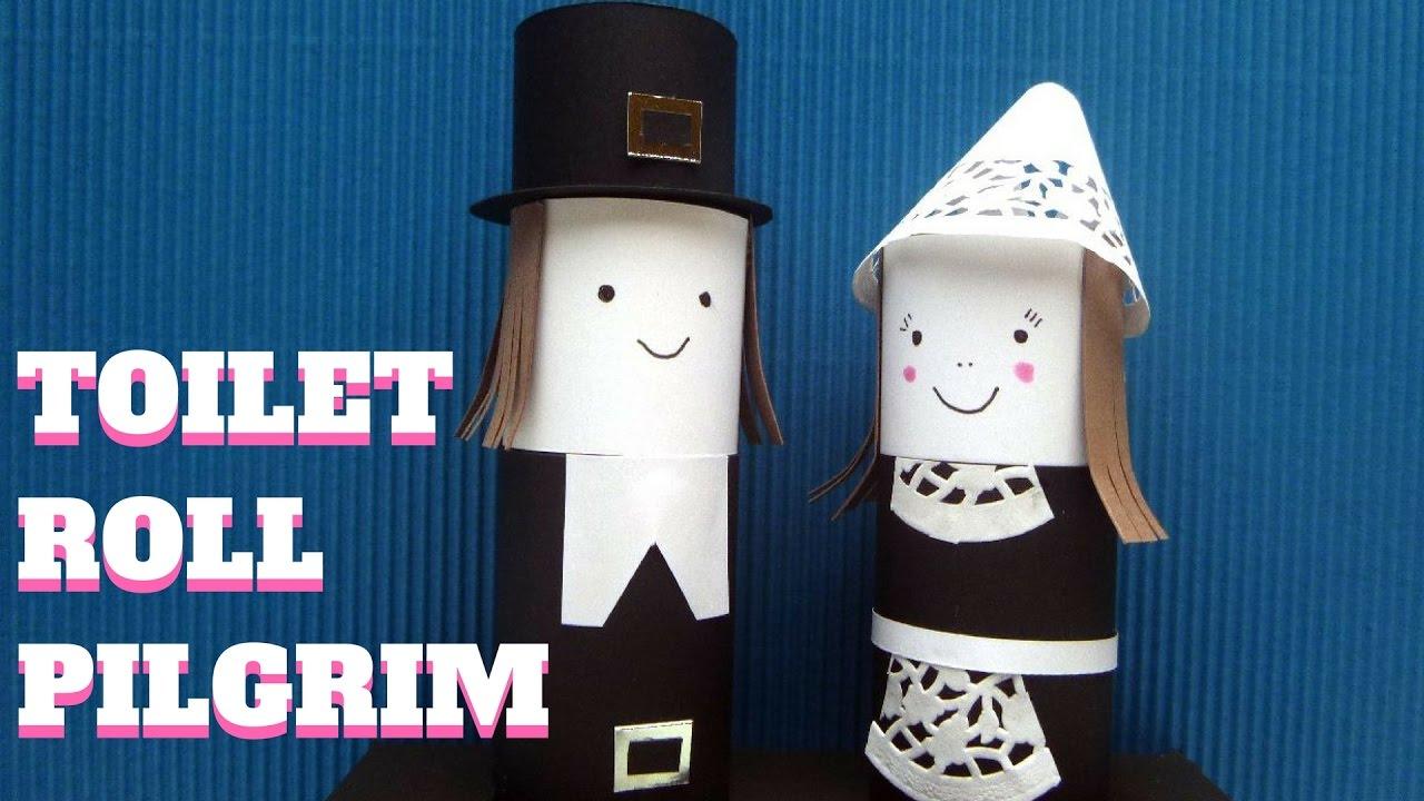 Thanksgiving craft toilet paper roll pilgrim toilet paper roll