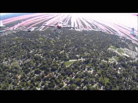 Cockpit video:  Arrowhead Stadium 49 plane flyover