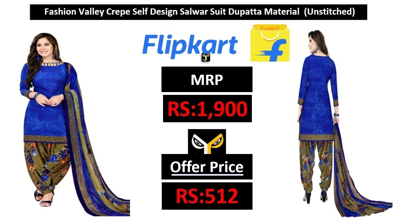 ed167bc0f Fashion Valley Synthetic Self Design Salwar Suit Material (Unstitched)