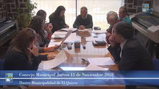 Concejo Municipal Jueves 15 de Noviembre 2018 - El Quisco