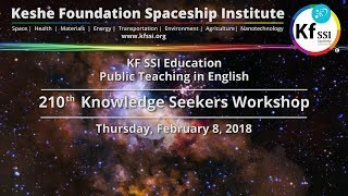 210th Knowledge Seekers Workshop Feb 8 2018