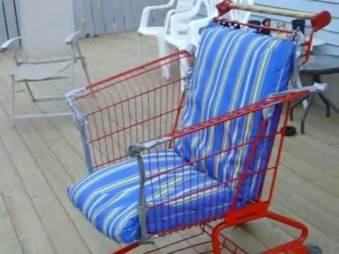 Shopping cart lawn chair youtube for Chair shopping