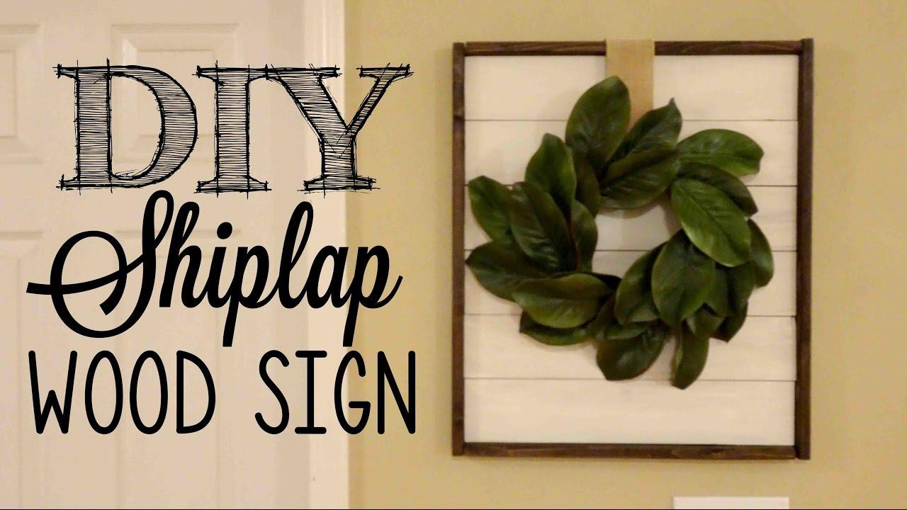 Diy Shiplap Framed Wood Sign Youtube