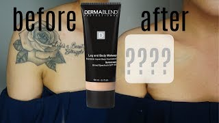 Dermablend Body Makeup Full Coverage Demo & Review