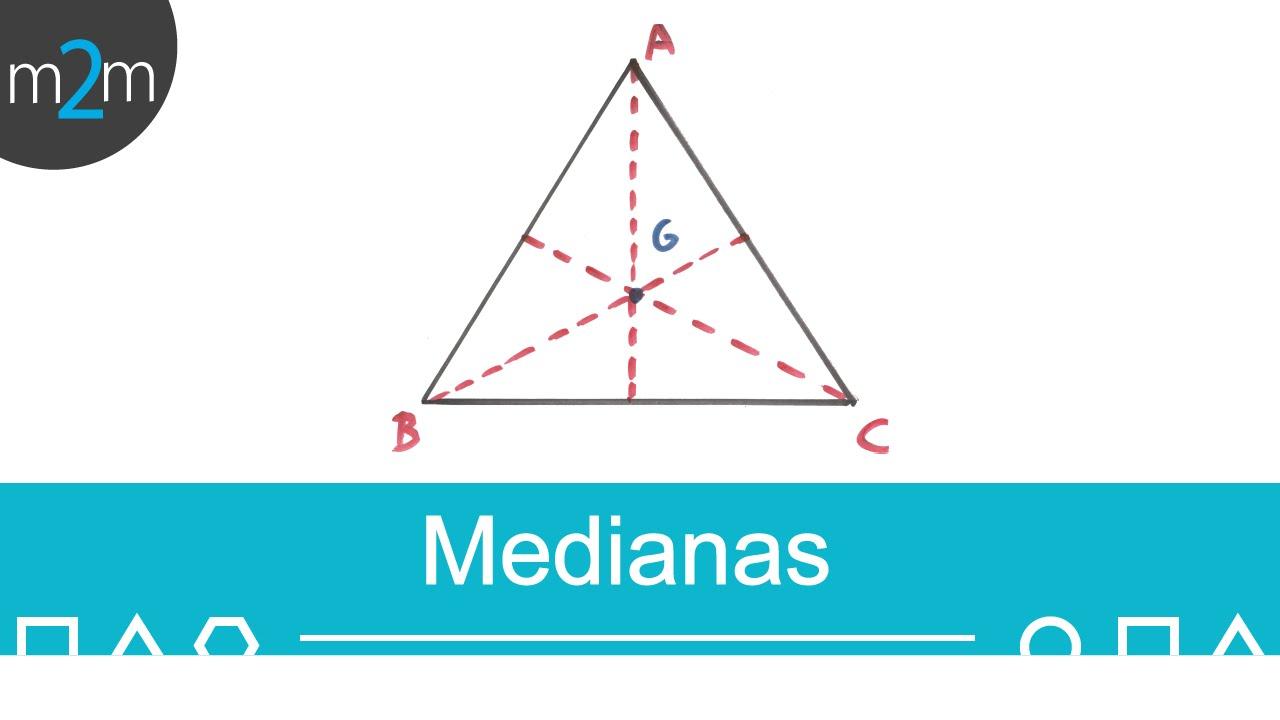 Medianas de un triángulo - YouTube