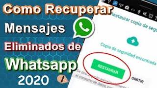 Como Recuperar Mensajes Eliminados de Whatsapp (Desde las 7 Copias de Seguridad ó Drive)