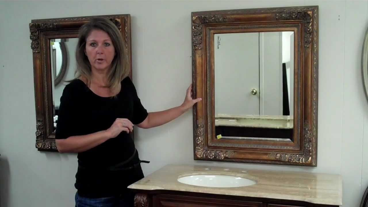 How to choose the perfect sized vanity mirror to go with for Height of bathroom mirror