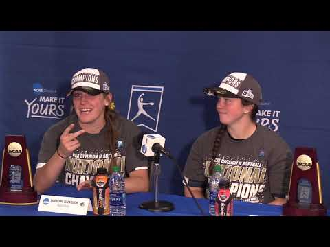 2019 Augustana Softball Winning National Championship Press Conference