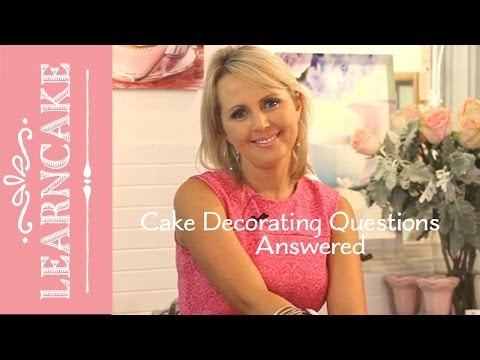 Your Cake Decorating Questions Answered