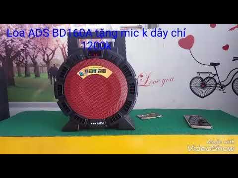 Loa xách tay karaoke hay tặng micro không dây ADS BD 160a