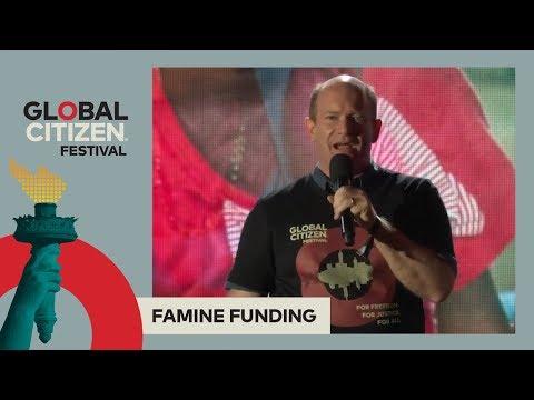 Senator Chris Coons Announces $300M Proposal for Famine Aid | Global Citizen Festival NYC 2017