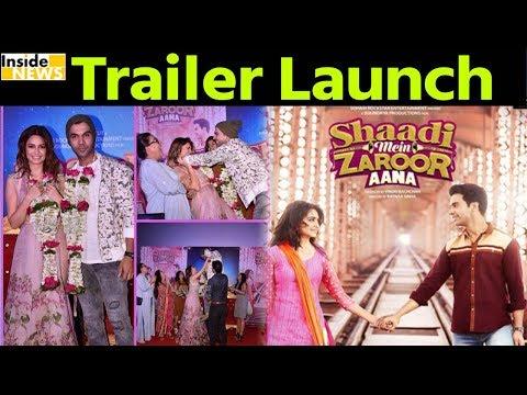 'SHAADI MEIN ZAROOR AANA' Movie Trailer Launch I Rajkumar Rao