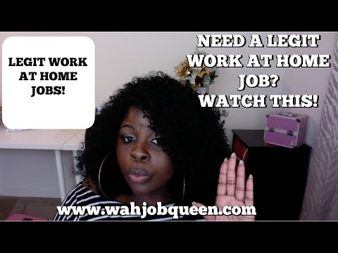IF YOU WANT TO WORK FROM HOME.. WATCH THIS VIDEO!!