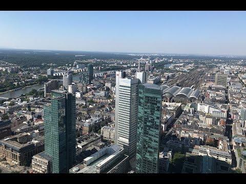 Frankfurter Skyline. Maintower. Skyline of Frankfurt am Main. Франкфурт на Майне.
