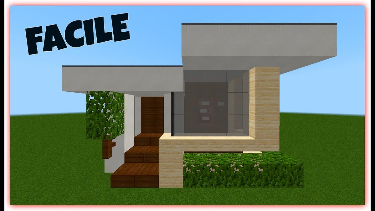 Minecraft tuto maison moderne facile construire youtube for Maison moderne minecraft tuto