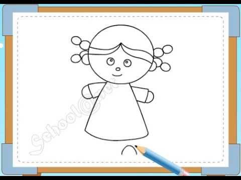 BÉ HỌA SĨ - Thực hành tập vẽ 105: Vẽ bé gái