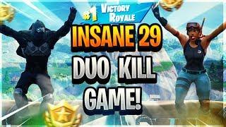 INSANE 29 KILL FORTNITE MOBILE DUO WIN WITH EVO - Fortnite Battle Royale Gameplay