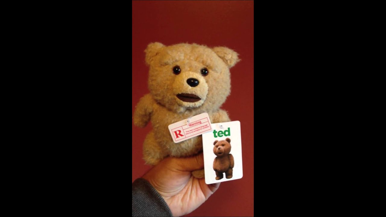 Ted Youtube: Ted 8 Inch R-Rated Talking Teddy Bear
