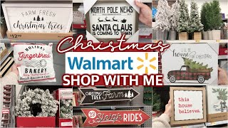 WALMART CHRISTMAS SHOP WITH ME 2019 - WALMART CHRISTMAS DECOR / New at Walmart  | Lauren Midgley