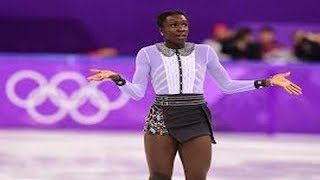 We are going to reward the skater Maé-Bérénice Méité for changing her outfit at the Winter Olympics.