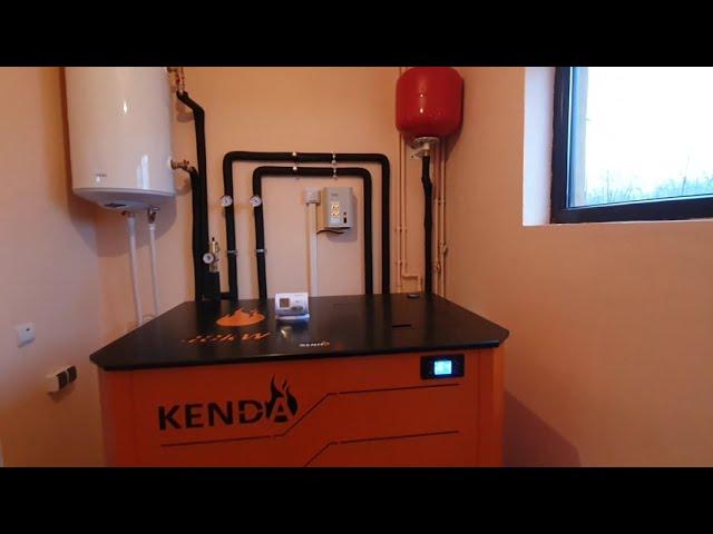 Centrala pe peleti Kenda EcoEnergy 40 kw - cos din inox izolat-  montaj profesional