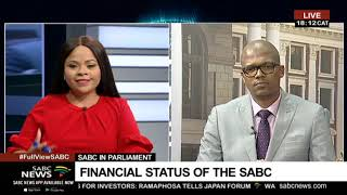Financial status of the SABC