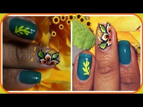 Flower Nail Art Tutorial Ll 41 Ll