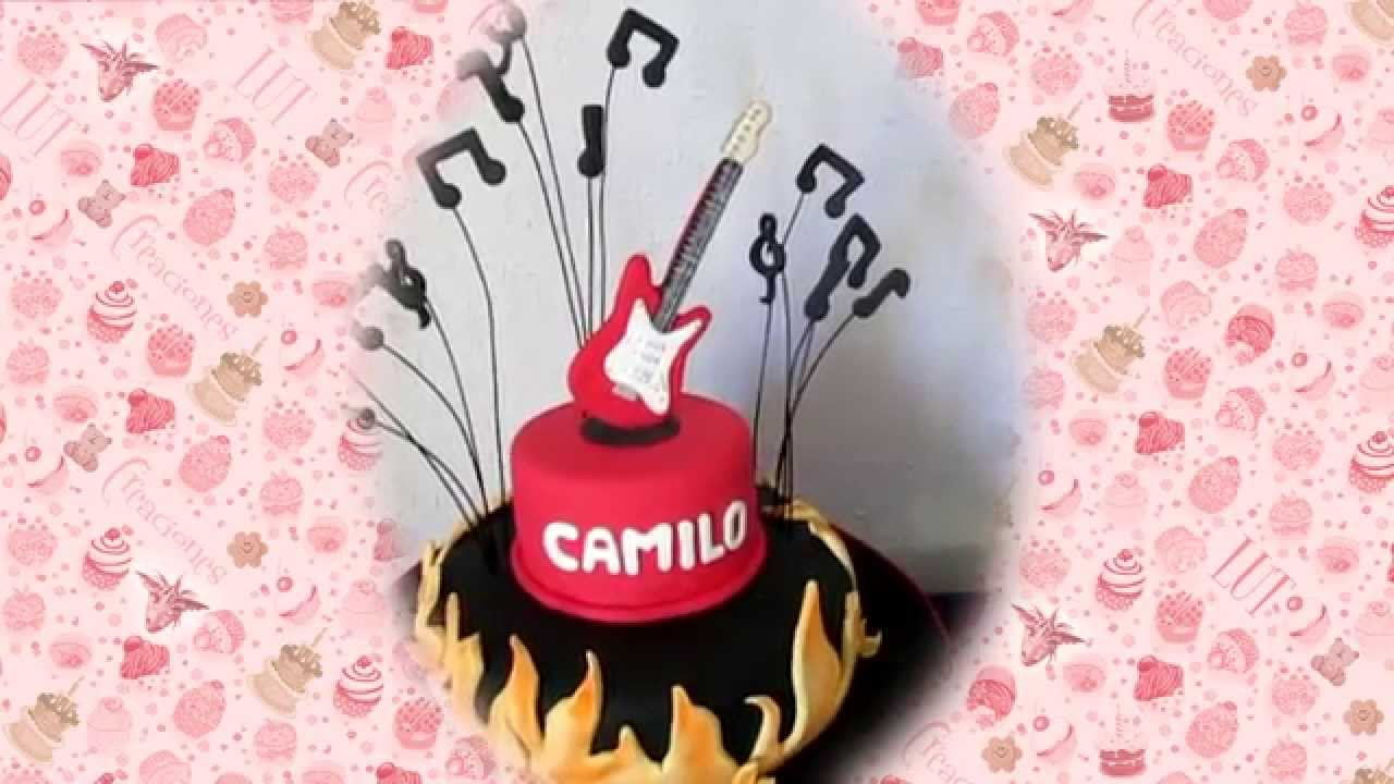 Torta De Cumpleanos Rockero Youtube