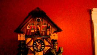 German Blackforest Woodcutters Cuckoo Clock