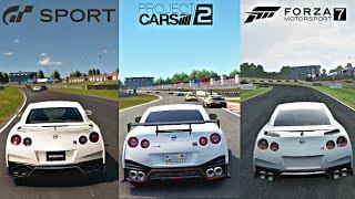GRAN TURISMO SPORT vs PROJECT CARS 2 vs FORZA 7 [4k Graphics Gameplay Comparison]