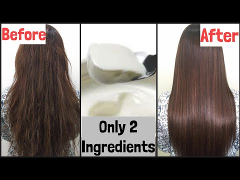 Permanent Hair Straightening at Home | Only Natural Ingredients | TipsToTop By Shalini