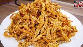 KHÔ GÀ - Cách làm Khô Gà Sả Tỏi Ớt sấy giòn - Món ăn ngon ngày Tết by Vanh Khuyen