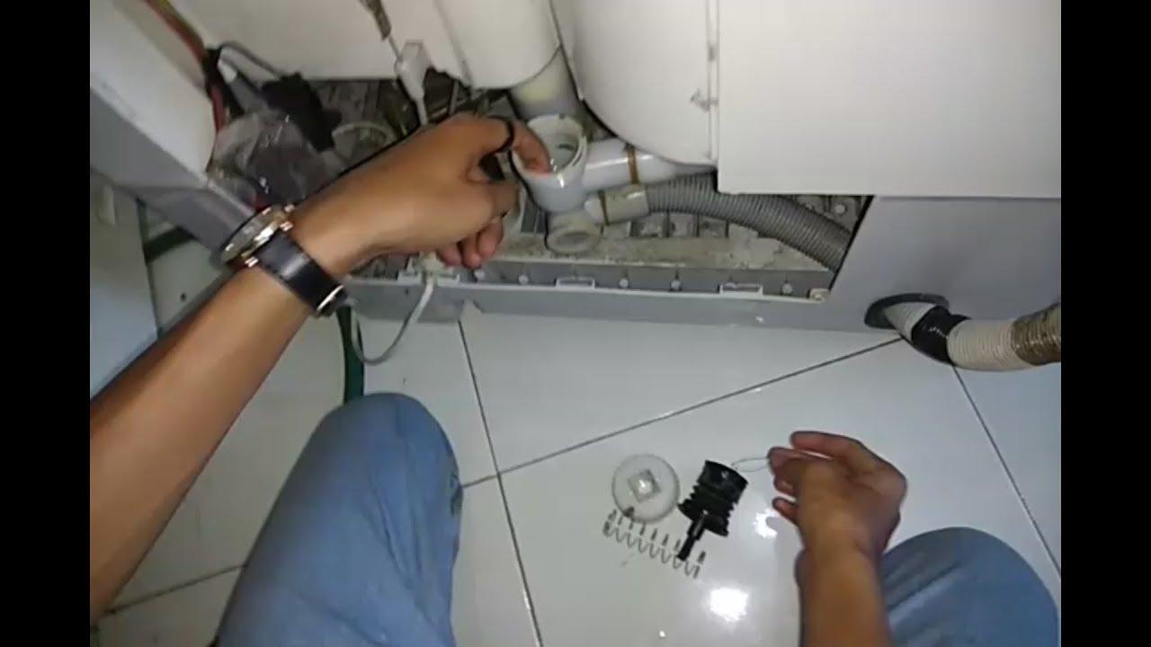 cara mudah mengatasi mesin cuci bocor