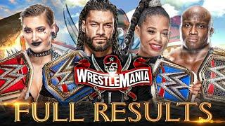 Full WWE Wrestlemania 37 Results