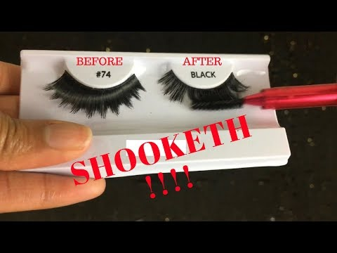 VIRAL EYELASH HACK TESTED | TRANSFORM Your $2 Synthetic Lashes into MINKS! Sharatia Banks
