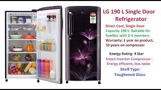 LG 190 L 4 Star Single Door Refrigerator Unboxing