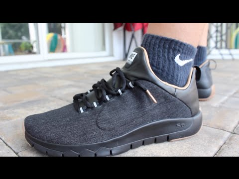 Nike Free 5.0 All Black On Feet
