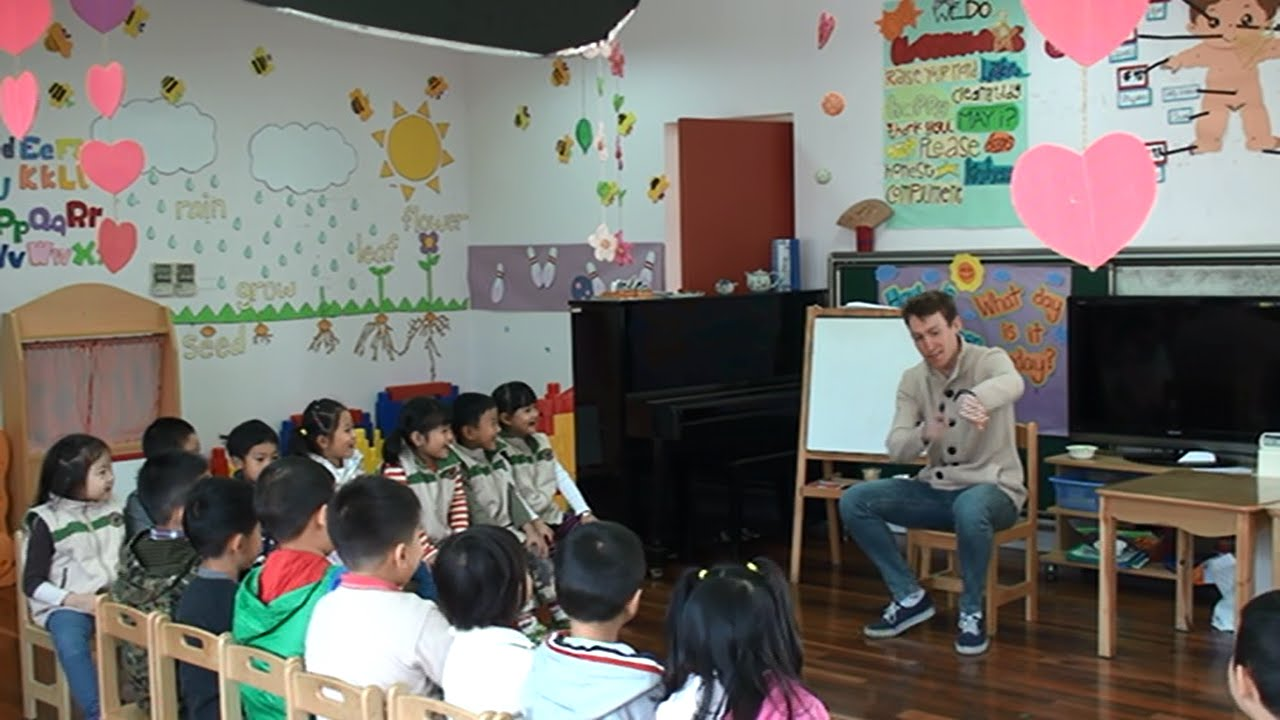 kindergarten english teaching demonstration video