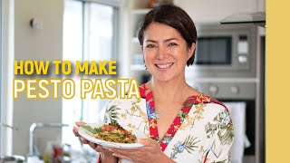 How to make PESTO PASTA: The Sicilian way // Alice Dixson