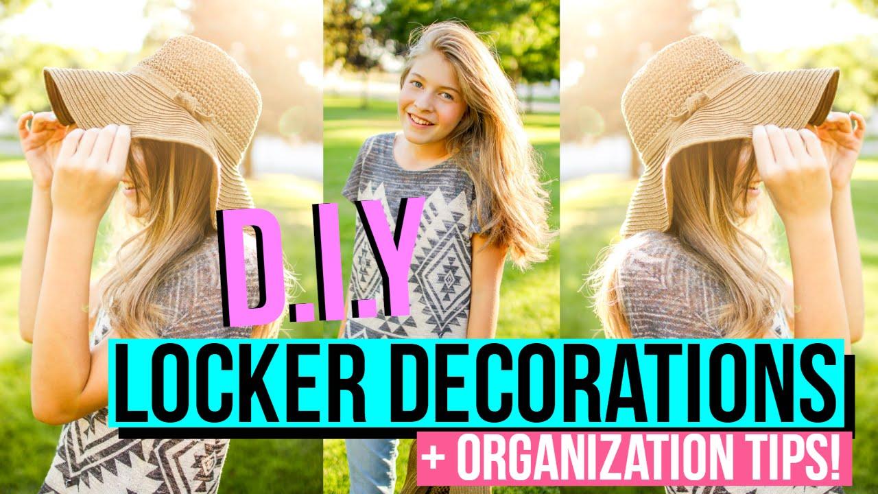 Back To School Diy Locker Decorations Youtube