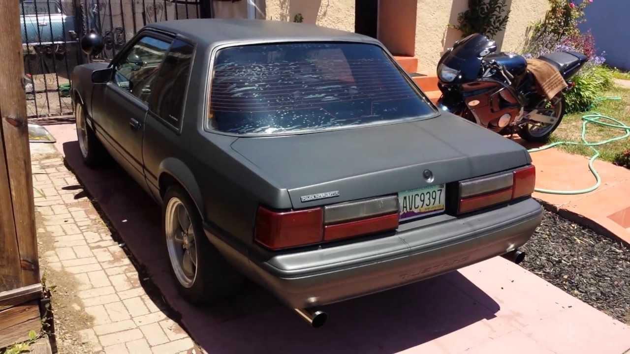86 Mustang 5 0 B303 Cam Slp Exhaust Youtube