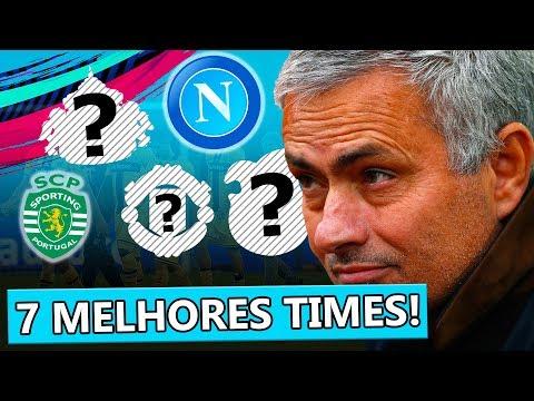 7 MELHORES TIMES PARA MODO CARREIRA NO FIFA 19!