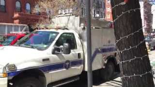 QUICK WALK AROUND OF NEW YORK CITY MEDICAL EXAMINERS UNIT AT 7 ALARM FIRE, EXPLOSION & COLLAPSE.