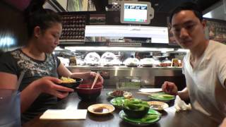 Kula Revolving Sushi Review #12 | conveyor belt on demand sushi! | San Diego | mini mukbang